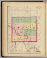 (Map of Ogemaw County, Michigan. Drawn, compiled, and edited by H.F. Walling, C.E. ... Published by R.M. & S.T. Tackabury, Detroit, Mich. Entered ... 1873, by H.F. Walling ... Washington. The Claremont Manufacturing Company, Claremont, N.H., Book Manufacturers)