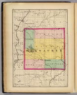 (Map of Missaukee County, Michigan. Drawn, compiled, and edited by H.F. Walling, C.E. ... Published by R.M. & S.T. Tackabury, Detroit, Mich. Entered ... 1873, by H.F. Walling ... Washington. The Claremont Manufacturing Company, Claremont, N.H., Book Manufacturers)