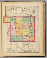 (Map of Wexford County, Michigan. Drawn, compiled, and edited by H.F. Walling, C.E. ... Published by R.M. & S.T. Tackabury, Detroit, Mich. Entered ... 1873, by H.F. Walling ... Washington. The Claremont Manufacturing Company, Claremont, N.H., Book Manufacturers)