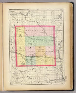(Map of Lake County, Michigan. Drawn, compiled, and edited by H.F. Walling, C.E. ... Published by R.M. & S.T. Tackabury, Detroit, Mich. Entered ... 1873, by H.F. Walling ... Washington. The Claremont Manufacturing Company, Claremont, N.H., Book Manufacturers)