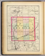 (Map of Osceola County, Michigan. Drawn, compiled, and edited by H.F. Walling, C.E. ... Published by R.M. & S.T. Tackabury, Detroit, Mich. Entered ... 1873, by H.F. Walling ... Washington. The Claremont Manufacturing Company, Claremont, N.H., Book Manufacturers)