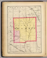 (Map of Gladwin County, Michigan. Drawn, compiled, and edited by H.F. Walling, C.E. ... Published by R.M. & S.T. Tackabury, Detroit, Mich. Entered ... 1873, by H.F. Walling ... Washington. The Claremont Manufacturing Company, Claremont, N.H., Book Manufacturers)