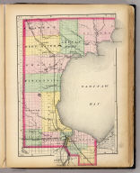 (Map of Bay County, Michigan. Drawn, compiled, and edited by H.F. Walling, C.E. ... Published by R.M. & S.T. Tackabury, Detroit, Mich. Entered ... 1873, by H.F. Walling ... Washington. The Claremont Manufacturing Company, Claremont, N.H., Book Manufacturers)