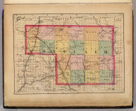 (Map of Montcalm County, Michigan)