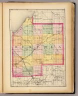 (Map of Tuscola County, Michigan. Drawn, compiled, and edited by H.F. Walling, C.E. ... Published by R.M. & S.T. Tackabury, Detroit, Mich. Entered ... 1873, by H.F. Walling ... Washington. The Claremont Manufacturing Company, Claremont, N.H., Book Manufacturers)