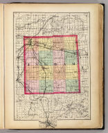 (Map of Ingham County, Michigan. Drawn, compiled, and edited by H.F. Walling, C.E. ... Published by R.M. & S.T. Tackabury, Detroit, Mich. Entered ... 1873, by H.F. Walling ... Washington. The Claremont Manufacturing Company, Claremont, N.H., Book Manufacturers)