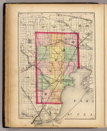 (Map of Macomb County, Michigan. Drawn, compiled, and edited by H.F. Walling, C.E. ... Published by R.M. & S.T. Tackabury, Detroit, Mich. Entered ... 1873, by H.F. Walling ... Washington. The Claremont Manufacturing Company, Claremont, N.H., Book Manufacturers)