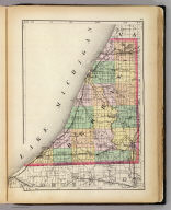 (Map of Berrien County, Michigan. Drawn, compiled, and edited by H.F. Walling, C.E. ... Published by R.M. & S.T. Tackabury, Detroit, Mich. Entered ... 1873, by H.F. Walling ... Washington. The Claremont Manufacturing Company, Claremont, N.H., Book Manufacturers)