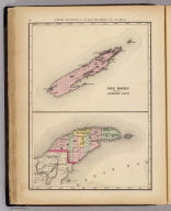 Upper Peninsula, scale six miles to an inch, Isle Royale atttached to Keweenaw County (and Keweenaw County. Drawn, compiled, and edited by H.F. Walling, C.E. ... Published by R.M. & S.T. Tackabury, Detroit, Mich. Entered ... 1873, by H.F. Walling ... Washington. The Claremont Manufacturing Company, Claremont, N.H., Book Manufacturers)