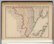 Upper Peninsula scale six miles to an inch (Menominee County. Drawn, compiled, and edited by H.F. Walling, C.E. ... Published by R.M. & S.T. Tackabury, Detroit, Mich. Entered ... 1873, by H.F. Walling ... Washington. The Claremont Manufacturing Company, Claremont, N.H., Book Manufacturers)