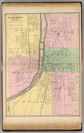 City of Grand Rapids, Kent County. Reduced by permission from the large map by John F. Tinkham. (Drawn, compiled, and edited by H.F. Walling, C.E. ... Published by R.M. & S.T. Tackabury, Detroit, Mich. Entered ... 1873, by H.F. Walling ... Washington. The Claremont Manufacturing Company, Claremont, N.H., Book Manufacturers)