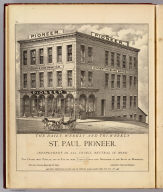The daily, weekly and tri-weekly St. Paul Pioneer. (Published by A.T. Andreas, Lakeside Building, Chicago, 1874. Chas. Shober & Co. Proprietors of Chicago Lith. Co.)