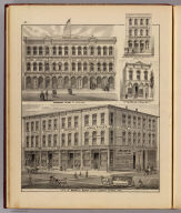 View of Moore's Block, Seven Corners ... (with) Wabashaw Block ... (with) Geo. M. Bennett & Co. ... (with) Nicholas Bure's School, Books & Stationery ... (all) St. Paul, Minn. (Published by A.T. Andreas, Lakeside Building, Chicago, 1874. Chas. Shober & Co. Proprietors of Chicago Lith. Co.)