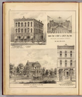Temme & Schnittger, Manufacturers, A. Stierle Pharmacy. (with) Residence of Lorenzo Allis, Esq. (with) Interior view of Condit & Lambie's Drug Store ... (with) P.R.L. Hardenbergh ... Leather & Findings ... (all St. Paul, Minn.) (Published by A.T. Andreas, Lakeside Building, Chicago, 1874. Chas. Shober & Co. Proprietors of Chicago Lith. Co.)
