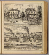 St. Paul Harvester Works ... (with) Residence of C.H. Bigelow ... (with) Residence of E.M. Deane ... (both) St. Paul, Minn. (Published by A.T. Andreas, Lakeside Building, Chicago, 1874. Chas. Shober & Co. Proprietors of Chicago Lith. Co.)