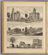 Public School, Court House, residences and businesses, Rochester and Olmsted Co., Minn.