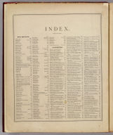 (Index page to) An illustrated historical atlas of the State of Minnesota. Published by A.T. Andreas, Lakeside Building, Chicago, Ills. 1874. Chas. Shober & Co. Proprietors of Chicago Lith. Co.