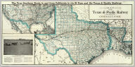 Map of the Texas & Pacific Railway and connections. The true southern route to and from California is via El Paso and the Texas Pacific Railway. (inset map of United States.)