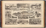 The Brandon Manufacturing Co., manufacturers of Howe Standard scales. Packard (del.). (Published by H.W. Burgett & Co. 36 Vesey Street, New-York. 1876. Entered ... 1876 by H.W. Burgett & Co. ... Washington D.C. Engraved & printed by J.B. Beers & Co. 36 Vesey St. N.Y.)