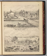 Stock farm and res. of German Cutting Esq., Shoreham, Addison Co., Vt. (with) Valley Stock Farm, Chas. Sanford, prop., Orwell, Addison Co., Vermont. (both by) Packard & Barry. (Published by H.W. Burgett & Co. 36 Vesey Street, New-York. 1876. Entered ... 1876 by H.W. Burgett & Co. ... Washington D.C. Engraved & printed by J.B. Beers & Co. 36 Vesey St. N.Y.)
