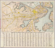 Map Of Boston, 1872, After The Latest Surveys With All The Improvements In Progress, By L. Prang & Co., Publishers Of Prang's American Chromos. 2182 Washington St., Boston. James B. Gardner, Draughtsman. Entered ... 1872, by L. Prang & Co. ... Washington. (inset) Plan Of East Boston.
