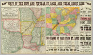 A geographically correct county map of states traversed by the St. Louis, Iron Mountain and Southern Railway and its connections. (with) Map of the St. Louis, Iron Mountain and Southern Railway, and connections. Maps of the new and popular St. Louis and Texas Short Line! ...