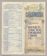 (Covers to:) Map of California with a brief description of its resources, attractions, topography, climate, etc. Published by the Passenger Department, Southern Pacific Company ... San Francisco, Cal. 8th. edn. (1901)