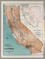 Geographical, topographical and railroad map of California. Published by the California State Board of Trade, 1908. Copyrighted 1907.
