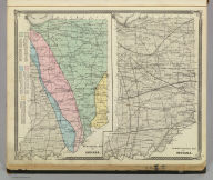 Geological map of Indiana. Climatological map of Indiana. (Published by Baskin, Forster & Co. Lakeside Building Chicago, Ills. 1876. Engraved & Printed by Chas. Shober & Co. Props. of Chicago Lithographing Co.)