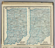Congressional districts. Judicial districts (Indiana. Published by Baskin, Forster & Co. Lakeside Building Chicago, Ills. 1876. Engraved & Printed by Chas. Shober & Co. Props. of Chicago Lithographing Co.)