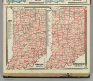 Senatorial districts. Representative districts (Indiana. Published by Baskin, Forster & Co. Lakeside Building Chicago, Ills. 1876. Engraved & Printed by Chas. Shober & Co. Props. of Chicago Lithographing Co.)
