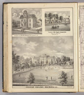 Earlham College, Richmond, Ind. (with residences of) T. Henry Davis (and) Abel Johnson