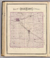 Map of Elkhart County. (Published by Baskin, Forster & Co. Lakeside Building Chicago, 1876. Engraved & Printed by Chas. Shober & Co. Props. of Chicago Lithographing Co.)