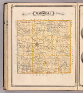 Map of Marshall County. (Published by Baskin, Forster & Co. Lakeside Building Chicago, 1876. Engraved & Printed by Chas. Shober & Co. Props. of Chicago Lithographing Co.)