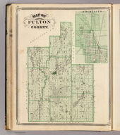 Map of Fulton County (with) Rochester, Fulton Co.