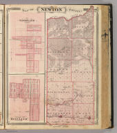 Map of Newton County. (with) Goodland, Newton Co. (with) Corporate Town of Kentland, Newton Co. (Published by Baskin, Forster & Co. Lakeside Building Chicago, 1876. Engraved & Printed by Chas. Shober & Co. Props. of Chicago Lithographing Co.)