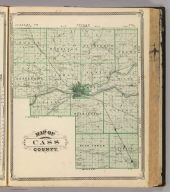 Map of Cass County. (Published by Baskin, Forster & Co. Lakeside Building Chicago, 1876. Engraved & Printed by Chas. Shober & Co. Props. of Chicago Lithographing Co.)