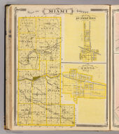 Map of Miami County. (with) Plan of Bunker Hill, Miami Co. (with) Corporate Town of Xenia, Miami Co. (Published by Baskin, Forster & Co. Lakeside Building Chicago, 1876. Engraved & Printed by Chas. Shober & Co. Props. of Chicago Lithographing Co.)