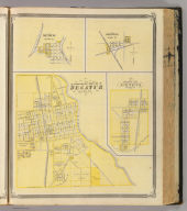 Corporate Town of Decatur, Adams Co. (with) Mexico, Miami Co. (with) Denver, Miami Co. (with) Corporate Town of Geneva, Adams Co. (Published by Baskin, Forster & Co. Lakeside Building Chicago, 1876. Engraved & Printed by Chas. Shober & Co. Props. of Chicago Lithographing Co.)