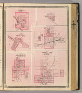 Plan of Portland, Jay Co., Ind. (with) Plan of Camden, Jay Co. (with) Plan of Redkey, Jay Co. (with) Plan of Dunkirk, Jay Co. (with) Plan of Union City, Randolph Co. (with) Plan of Winchester, Randolph Co. (Published by Baskin, Forster & Co. Lakeside Building Chicago, 1876. Engraved & Printed by Chas. Shober & Co. Props. of Chicago Lithographing Co.)