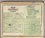 Map of Blackford County. (with) Corp. Town, Montpelier, Blackford Co. (with) Hartford City, Blackford Co. (Published by Baskin, Forster & Co. Lakeside Building Chicago, 1876. Engraved & Printed by Chas. Shober & Co. Props. of Chicago Lithographing Co.)