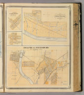 Delphi & Pittsburg with suburban towns (with) Chauncey, Clarksville, West Point.