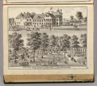 Residence, beer-garden and brewery of C.L. Centlivre, Fort Wayne, Indiana. (Published by Baskin, Forster & Co. Lakeside Building Chicago, 1876. Engraved & Printed by Chas. Shober & Co. Props. of Chicago Lithographing Co.)