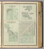 Corporate Town of Fowler, Benton Co., Ind. (with) Stockwell, Elston and vicinity, Boswell, Oxford.