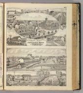 Views of the residence ... Josephus Wolf (with) Cobourg Porter Co. (and residences, stores and farms of H.W. Forbes, T.H. Forbes, J.T. Forbes)
