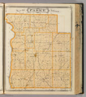 Map of Parke County.