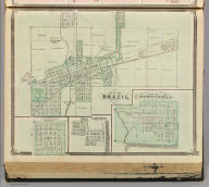Plan of Brazil, Clay Co. (with) Bowling Green, Gosport, Spencer.