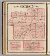 Map of Morgan County (with) Mooresville, Martinsville.