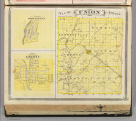 Map of Union County (with) Brownsville, Liberty.