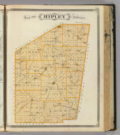 Map of Ripley County. (Published by Baskin, Forster & Co. Lakeside Building Chicago, 1876. Engraved & Printed by Chas. Shober & Co. Props. of Chicago Lithographing Co.)